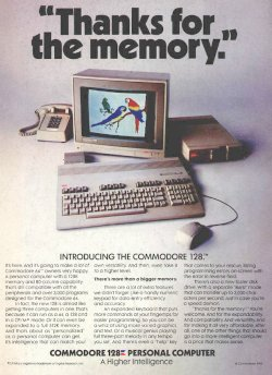 C128 Werbung - Thanks for the memory